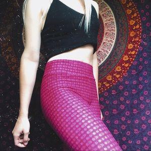 NWOT pink patterned lularoe leggings